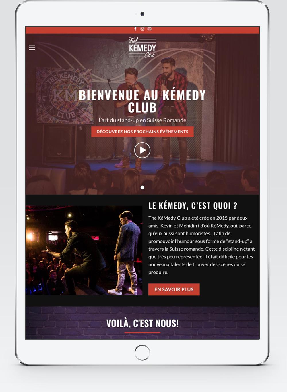 Site Web Responsive pour le KemedyClub