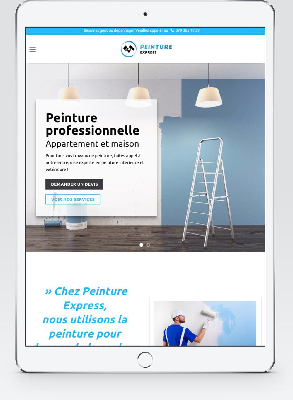 Adaptation tablette pour le site internet de Peinture-Expres