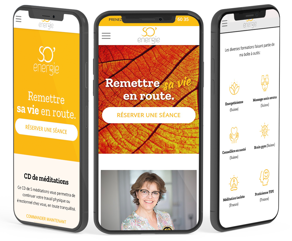 Version mobile responsive du site internet de So-Energie