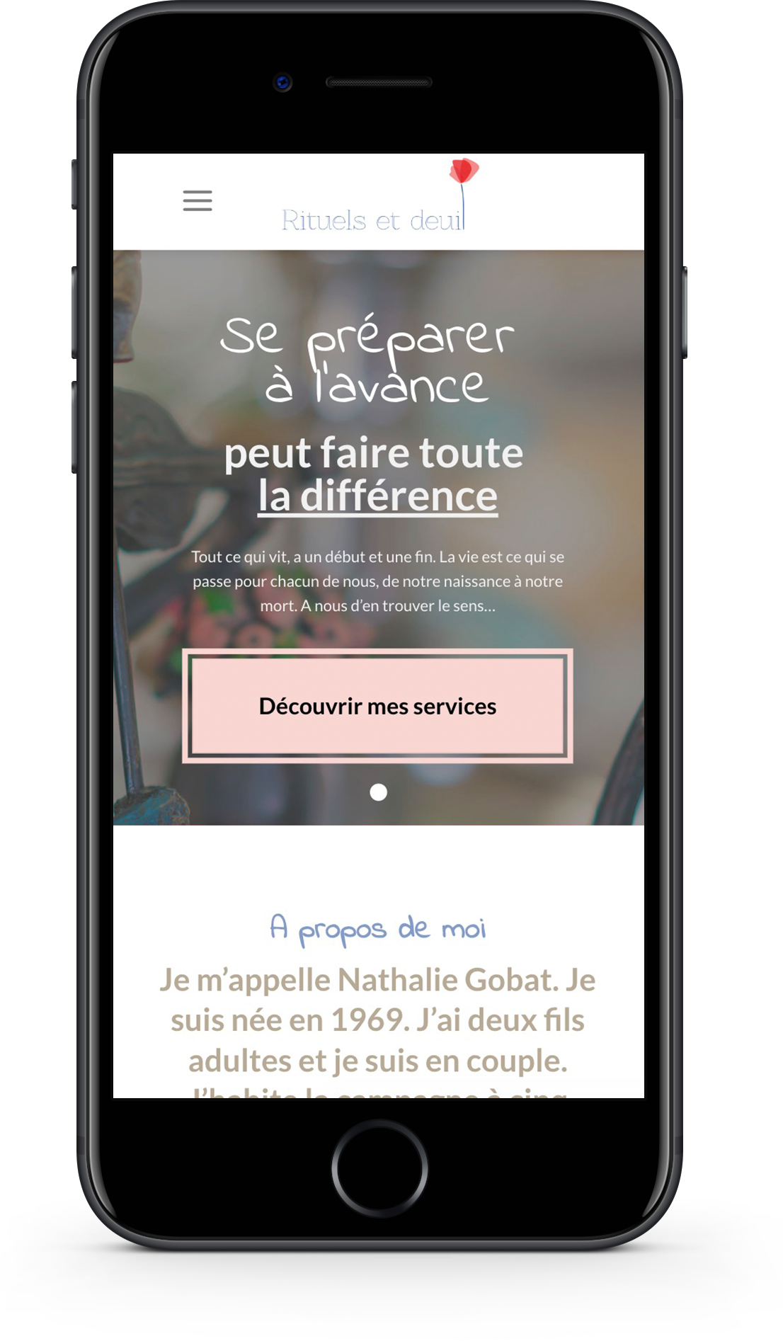 Optimisation Mobile (UX) pour le site internet de Rituels et Deuil par l'agence développement web DigitalEra