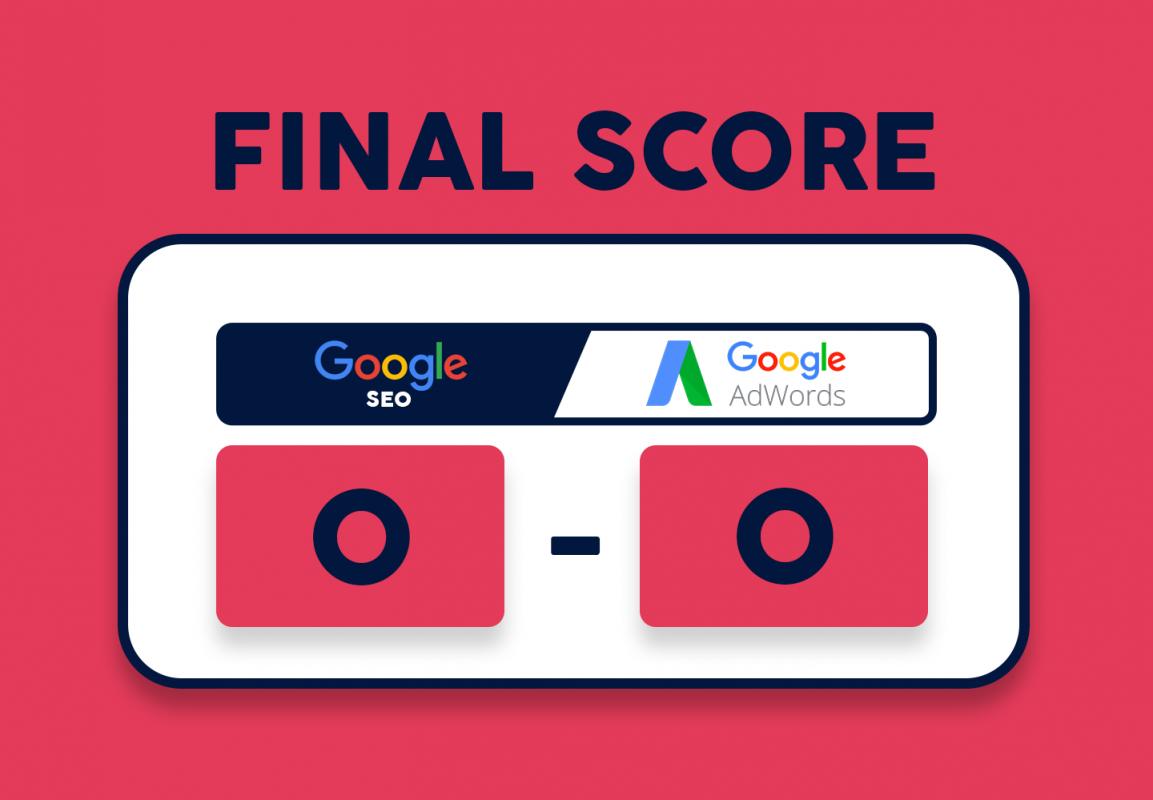 comparaison google SEO / google AdWords