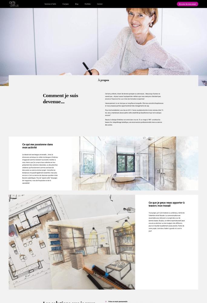 Création de site internet d'une designer d'intérieur à Fribourg