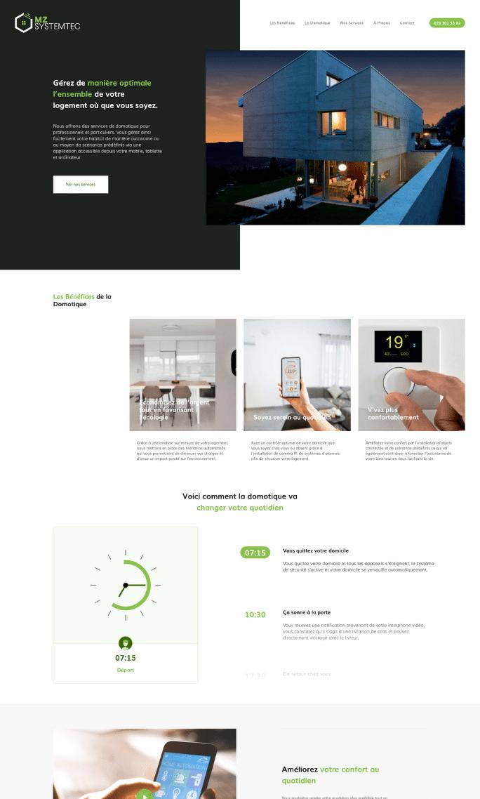Création du site internet d'une entreprise de domotique à Fribourg